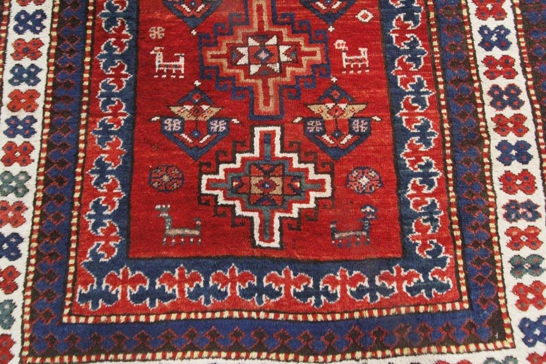 Antique Kazak Caucasian Rug 4x7 - 6