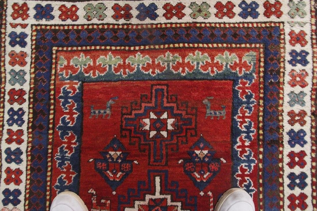 Antique Kazak Caucasian Rug 4x7 - 7