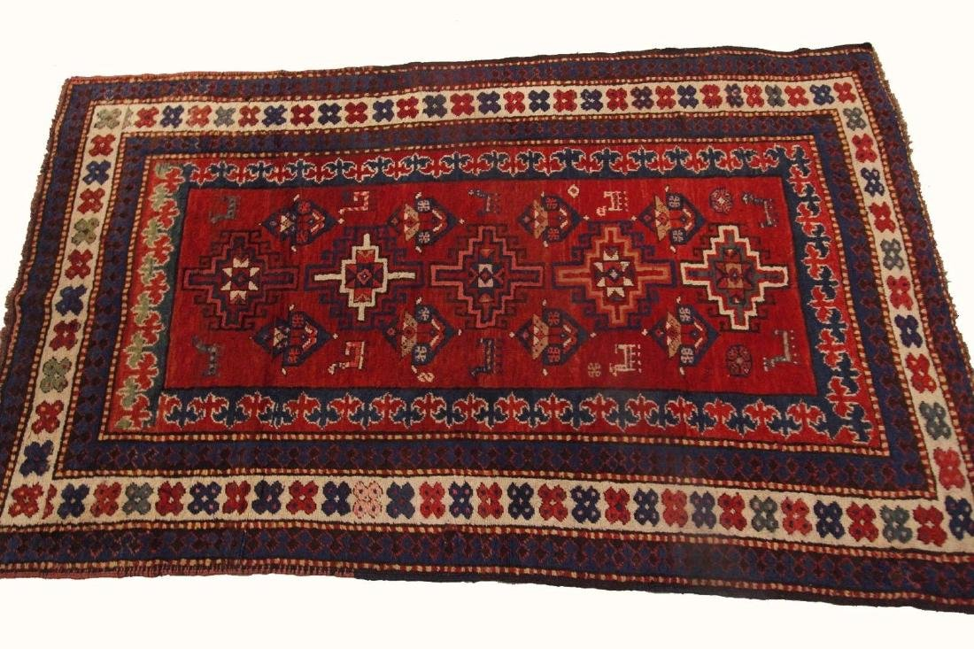 Antique Kazak Caucasian Rug 4x7 - 8