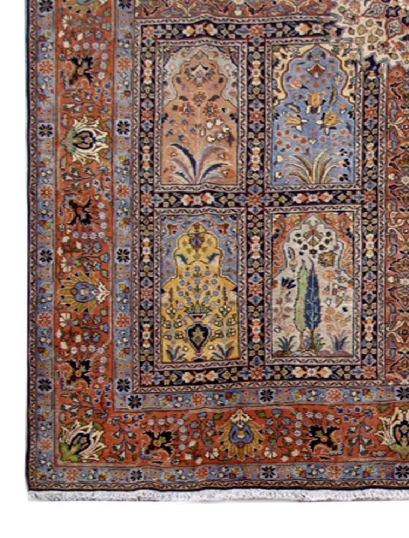 Handmade Persian Tabriz Khoy Carpet 10x13 - 3