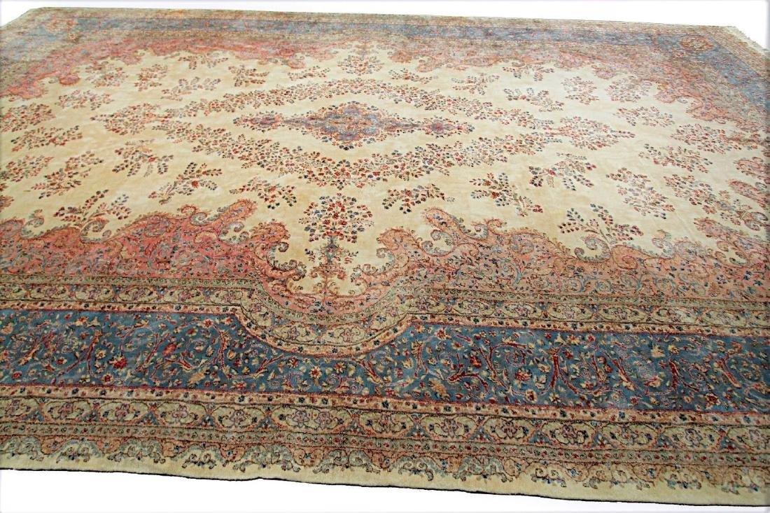 Persian Classic Kerman Rug Carpet 15x26 - 2