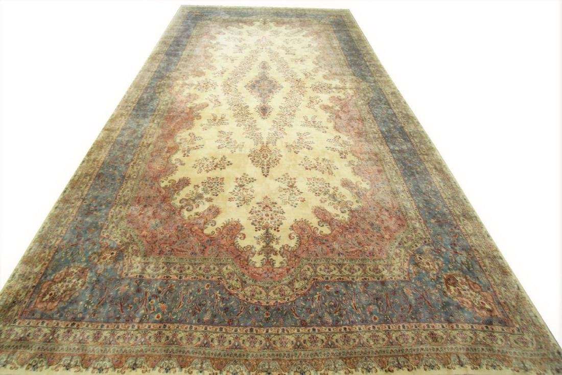 Persian Classic Kerman Rug Carpet 15x26 - 4