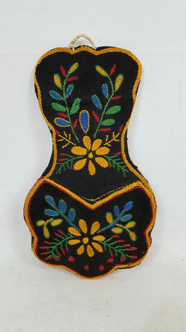 Embroidered Indian Wall Pocket