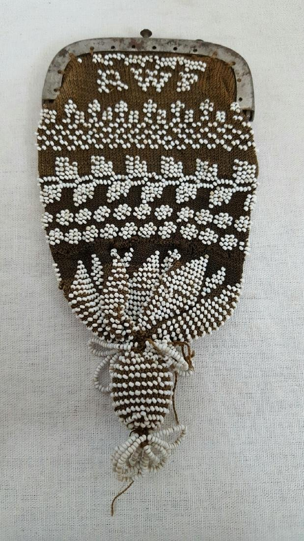 Early Beaded Change Purse