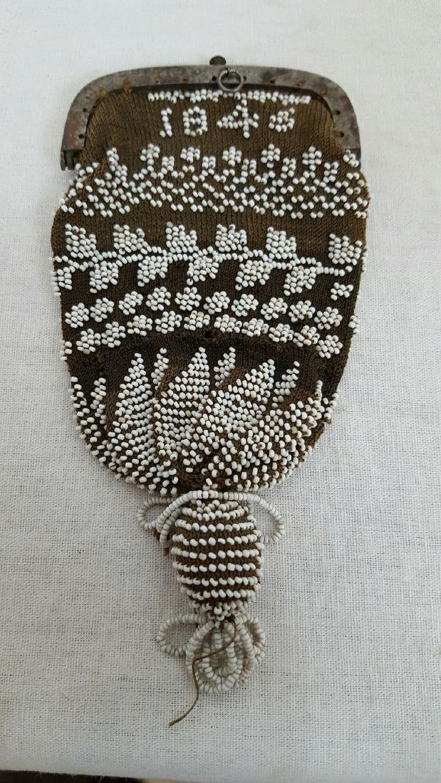 Early Beaded Change Purse - 2