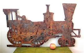 Sheet Iron Steam Locomotive Weathervane