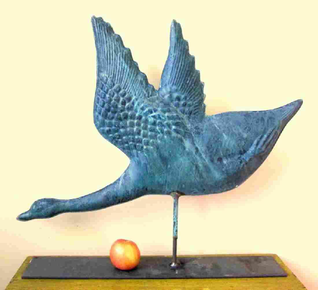 Copper Goose Weathervane