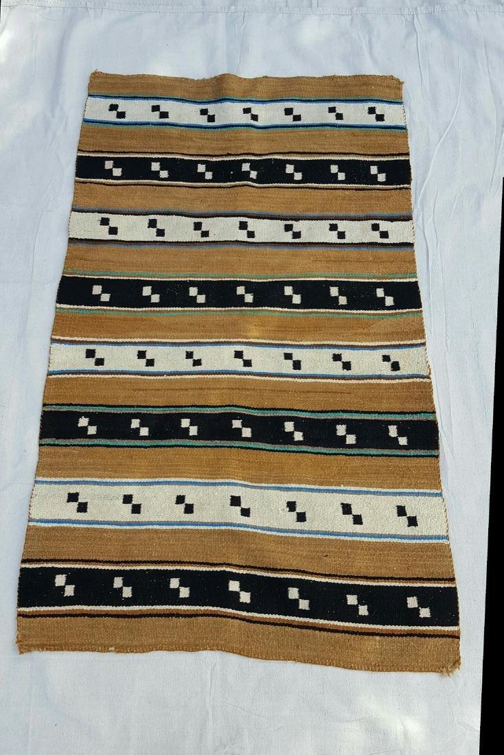 Navajo Woven Double Saddle Blanket