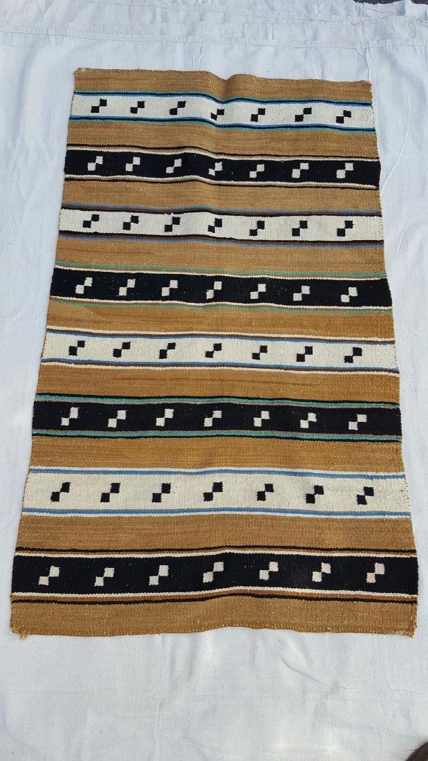 Navajo Woven Double Saddle Blanket - 2