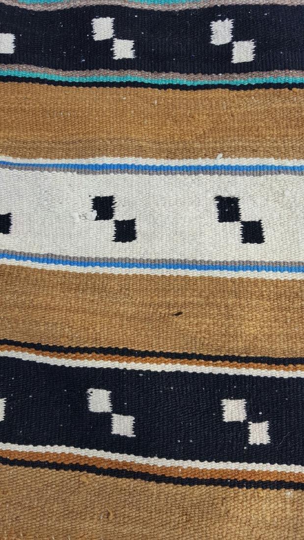 Navajo Woven Double Saddle Blanket - 3