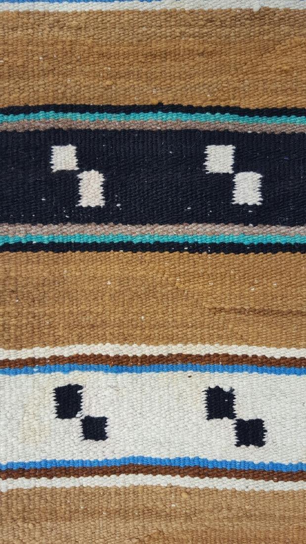 Navajo Woven Double Saddle Blanket - 5