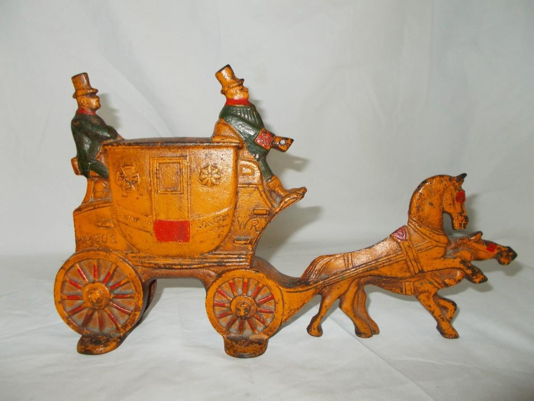 Painted Cast Iron Door Stop Carriage