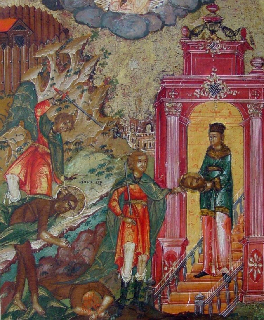 Beheading of Saint John Russian Icon, 19th C - 2
