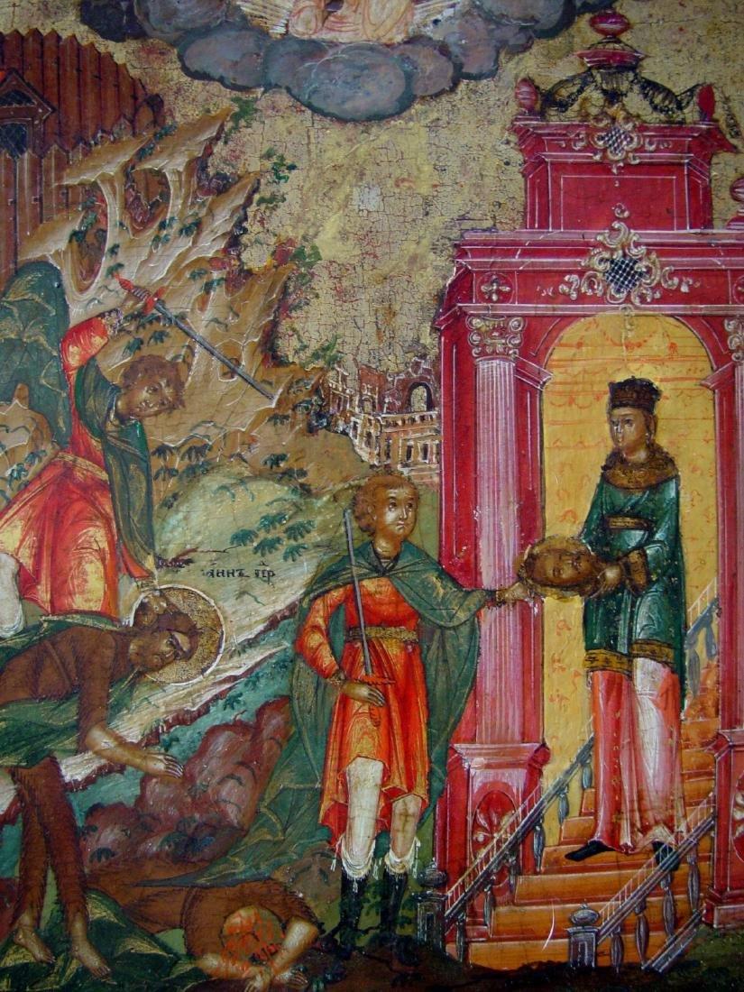 Beheading of Saint John Russian Icon, 19th C - 3