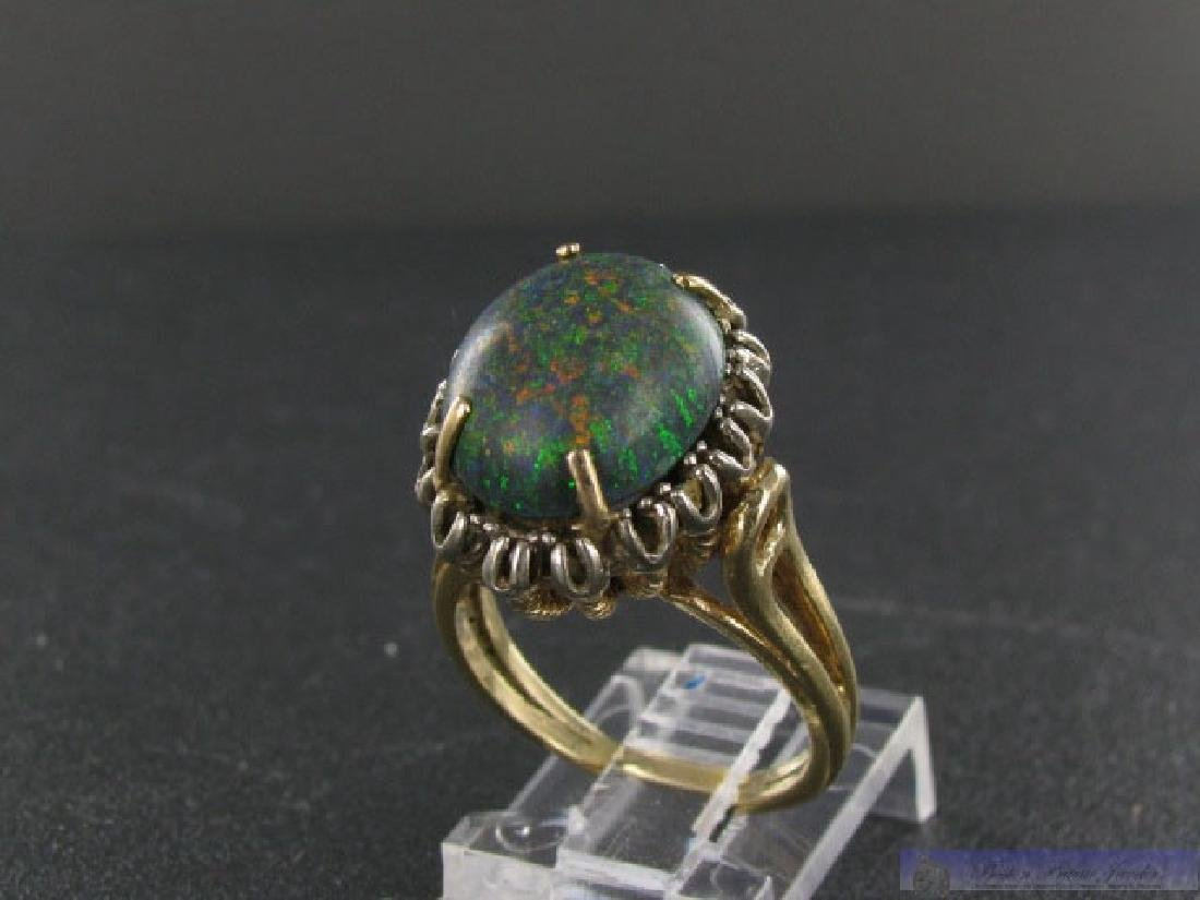 Vintage 14K Gold Gold Boulder Opal Ring