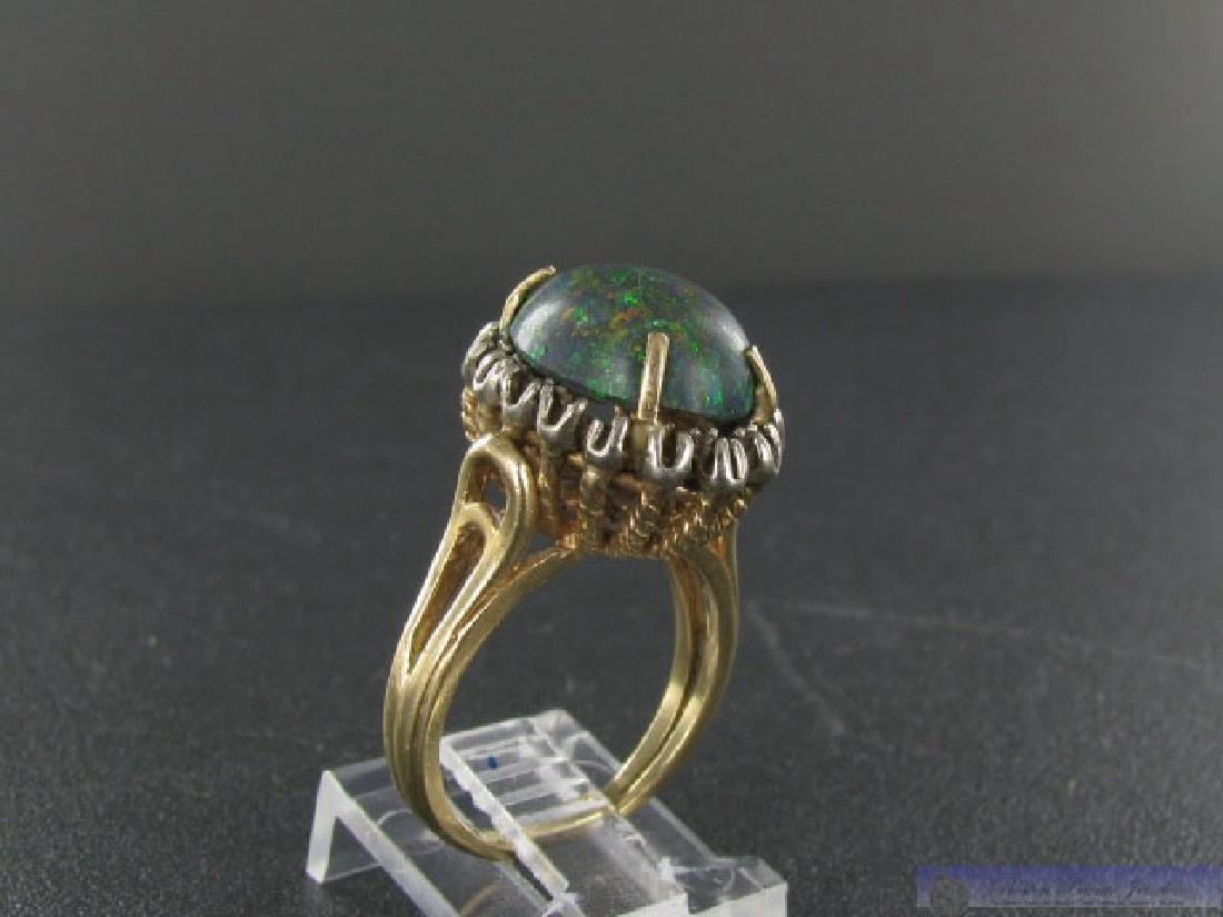 Vintage 14K Gold Gold Boulder Opal Ring - 2