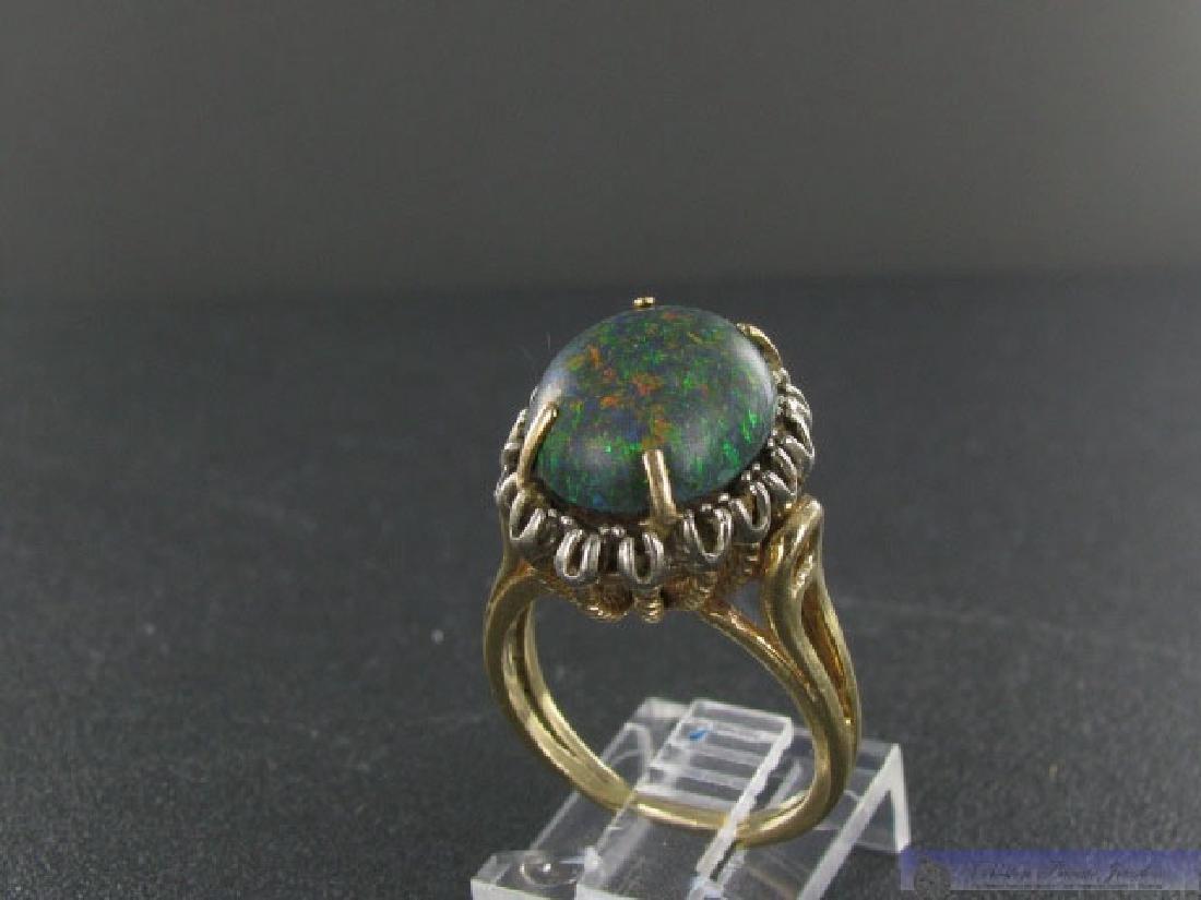 Vintage 14K Gold Gold Boulder Opal Ring - 3
