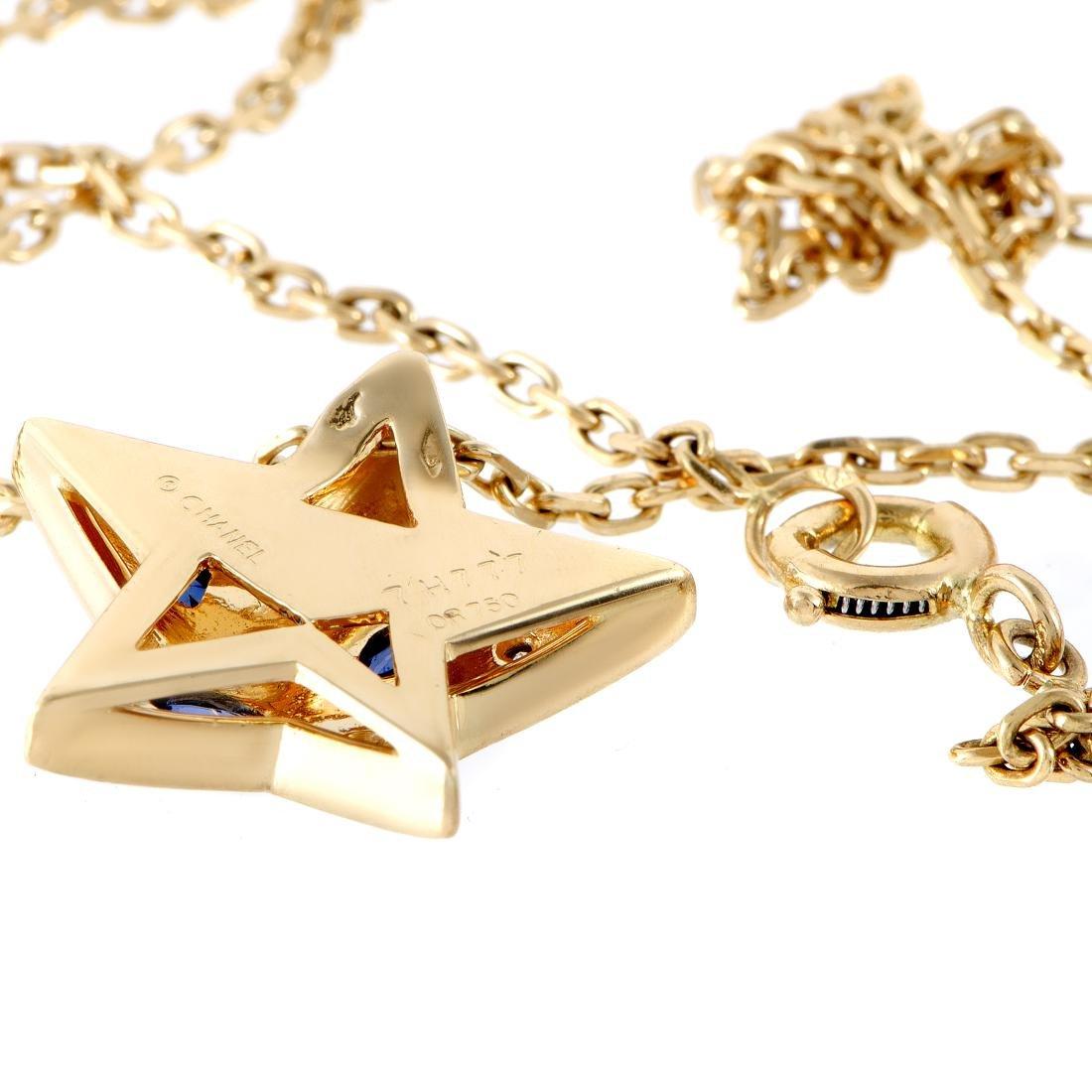 Chanel Comete 18K Gold Diamond Sapphire Star Necklace - 3