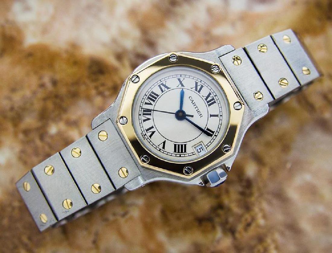 Cartier Santos Quartz 18K Gold Stainless Steel Watch - 3