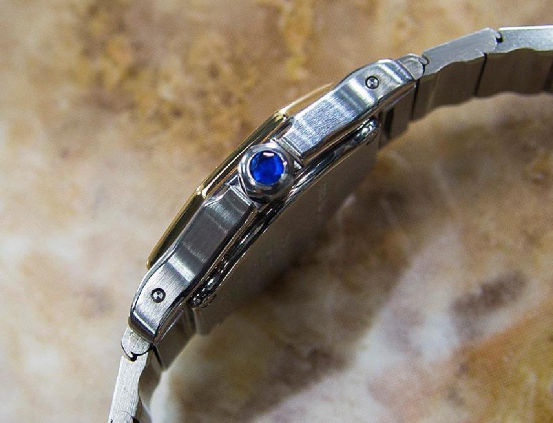 Cartier Santos Quartz 18K Gold Stainless Steel Watch - 4
