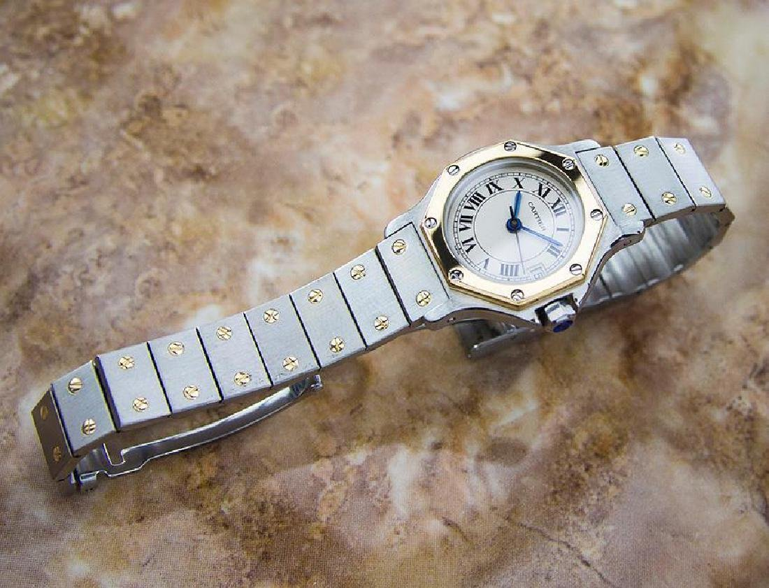 Cartier Santos Quartz 18K Gold Stainless Steel Watch - 5