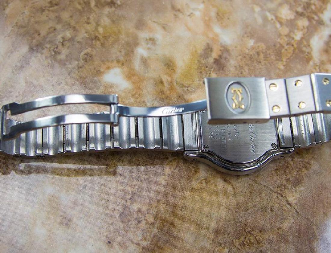 Cartier Santos Quartz 18K Gold Stainless Steel Watch - 6