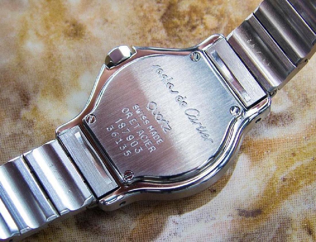 Cartier Santos Quartz 18K Gold Stainless Steel Watch - 7