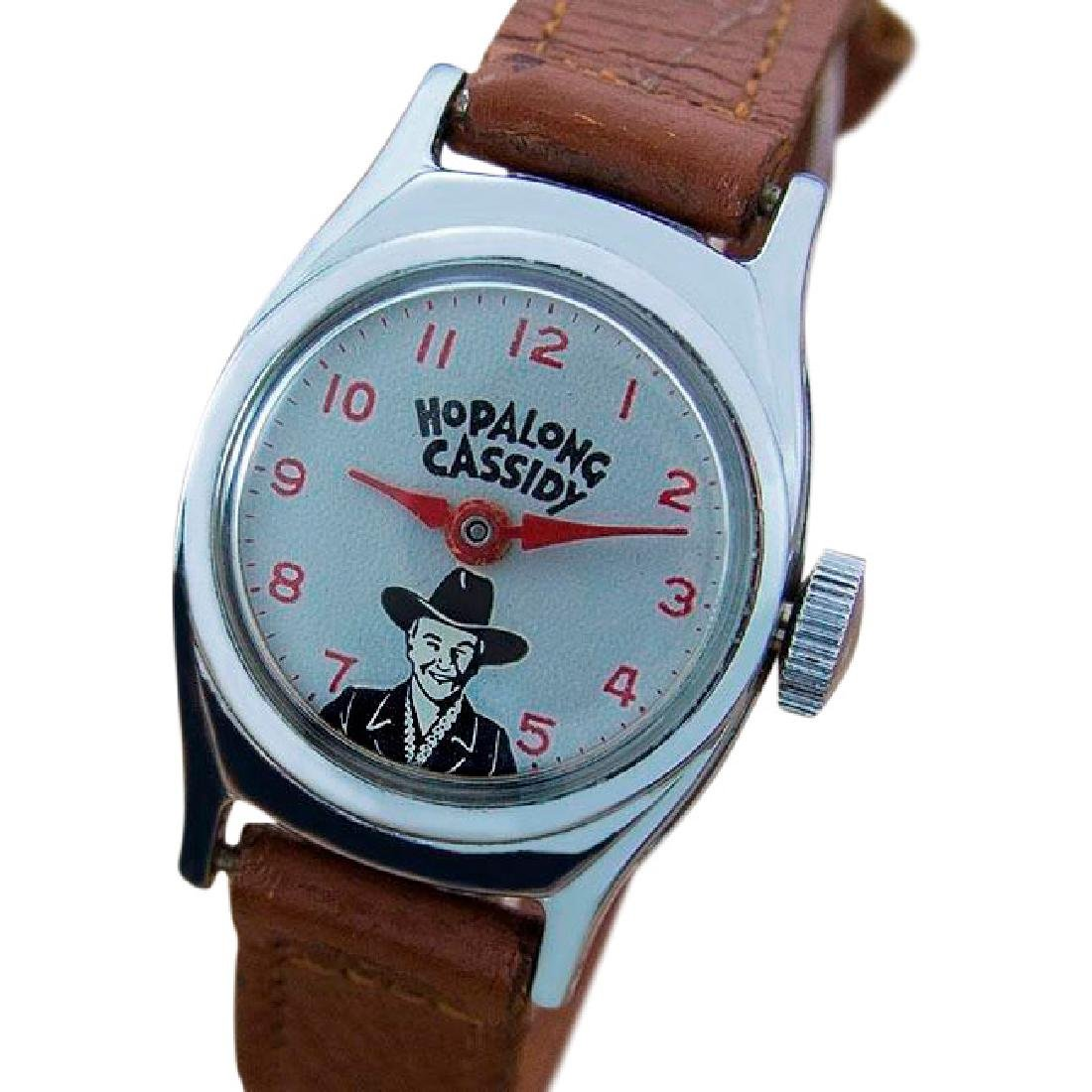 Rare Vintage US Time Hopalong Cassidy Caricature Watch