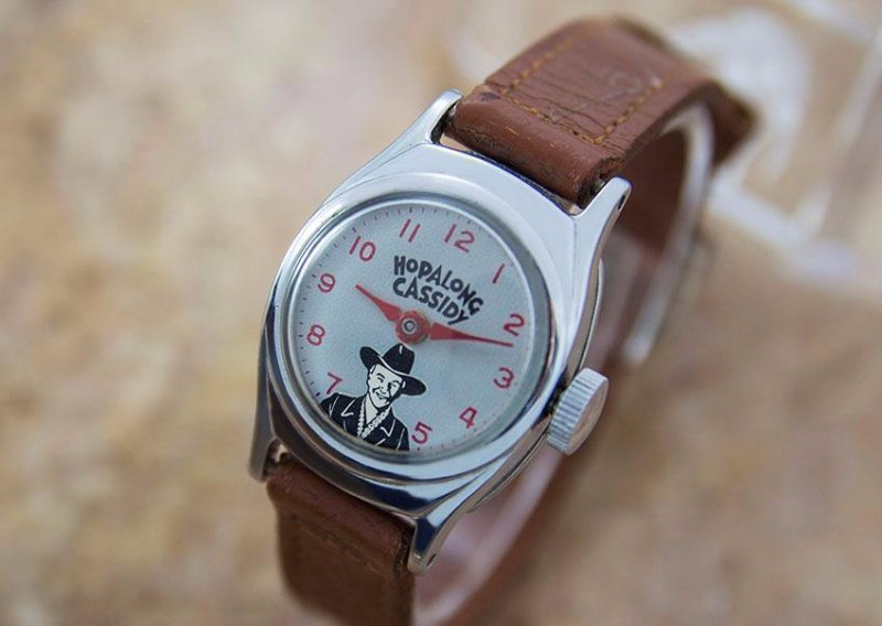 Rare Vintage US Time Hopalong Cassidy Caricature Watch - 2