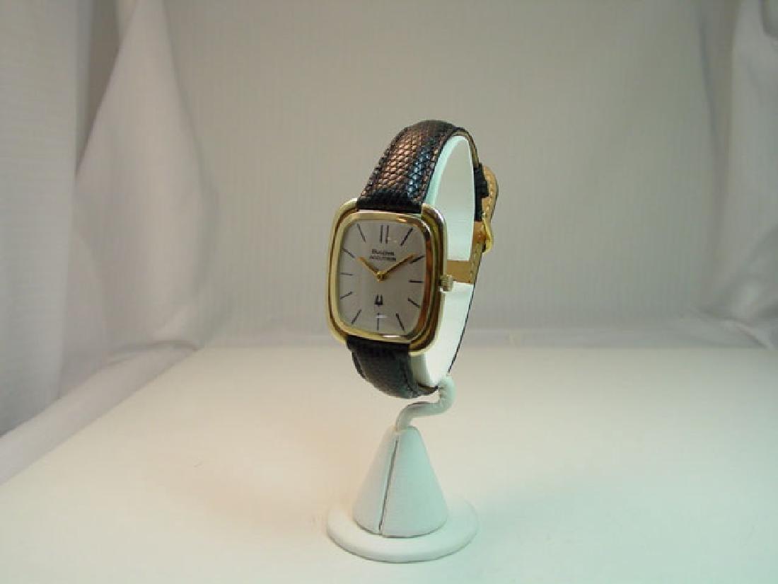Vintage Bulova Accutron 14K Solid Wristwatch
