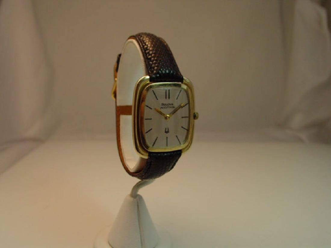 Vintage Bulova Accutron 14K Solid Wristwatch - 2