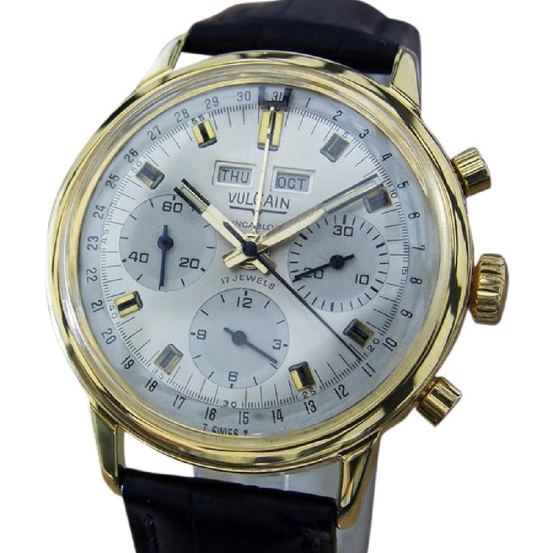 Vulcain Swiss Triple Calendar Chronograph Watch