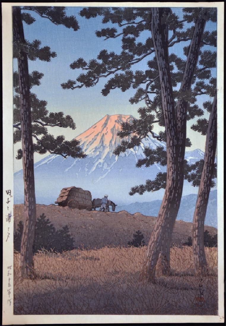 Hasui Kawase: Evening at Taganoura