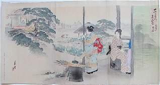 Ogata Gekko: Iris at Horikiri