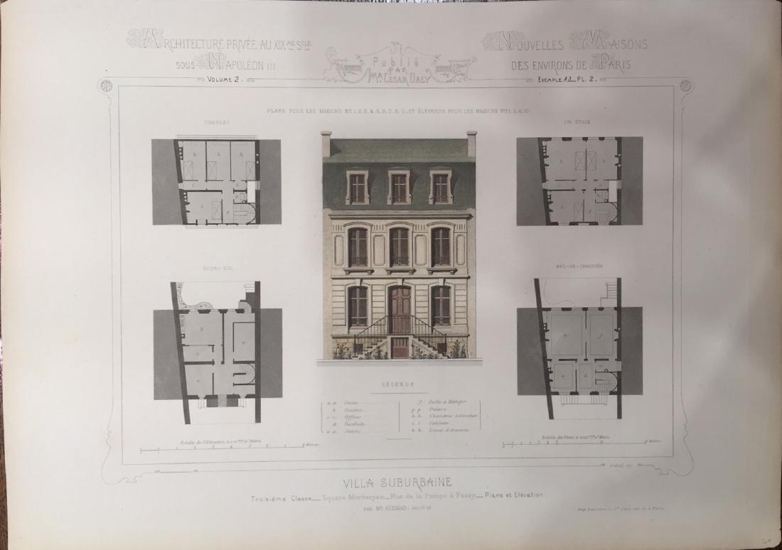 Nouvelles Maisons Des Environs De Paris by Cesar Daly