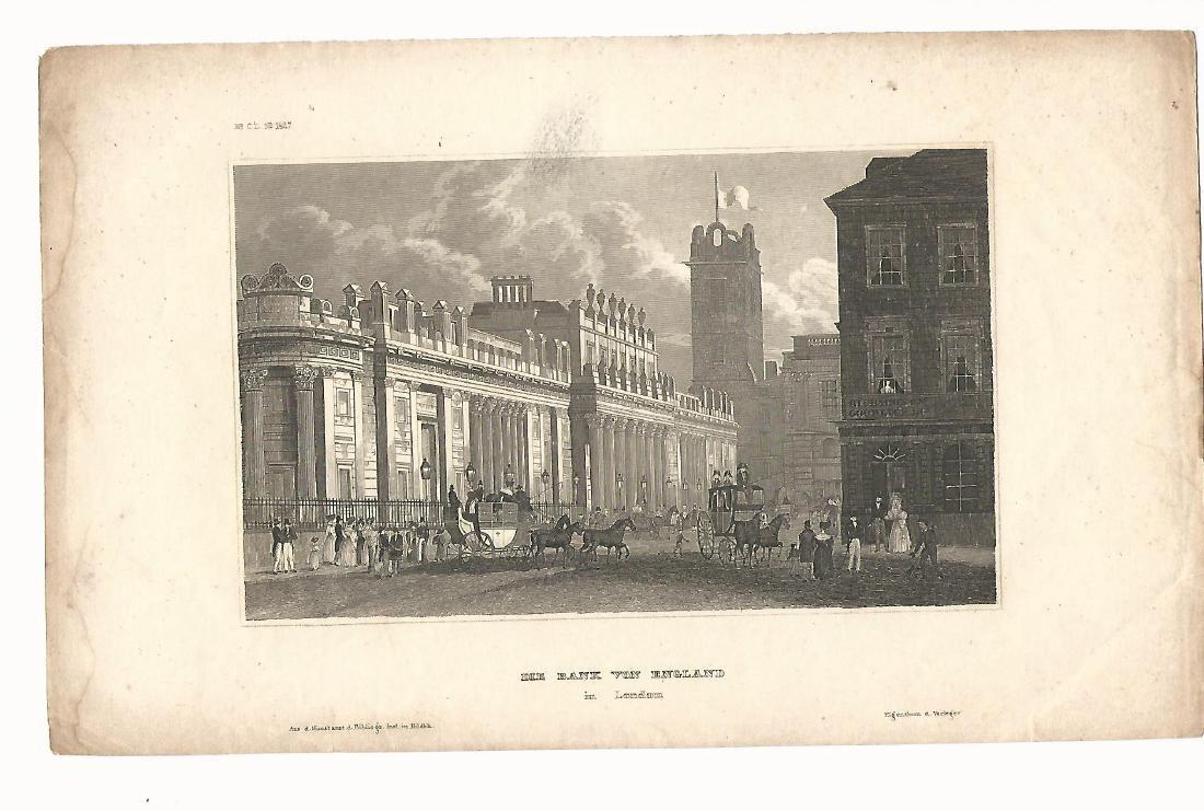 1836 Steel Engraving Bank von England