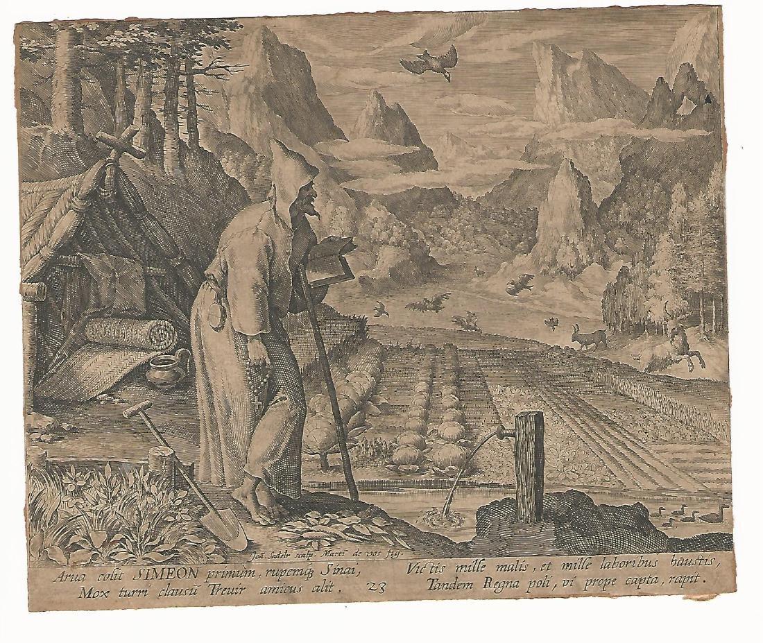 1600 Old Master Engraving Sadeler De Vos