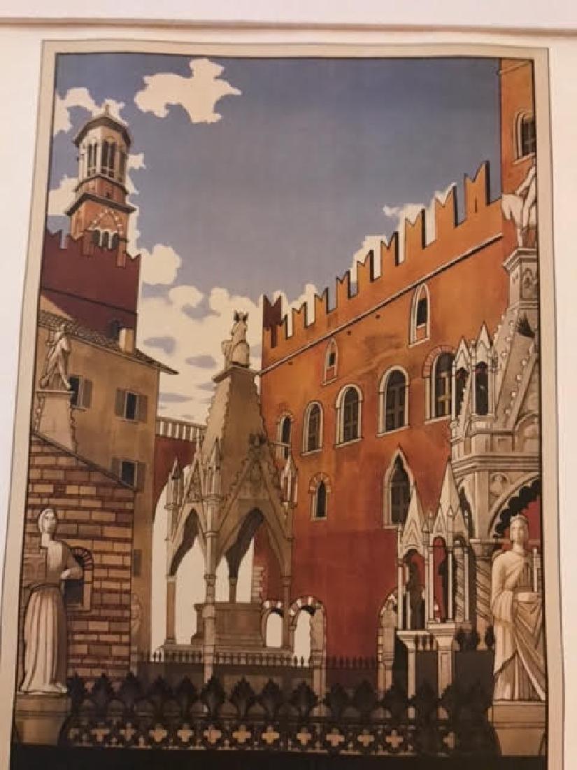 Verona Italy Print c.1938 - 2