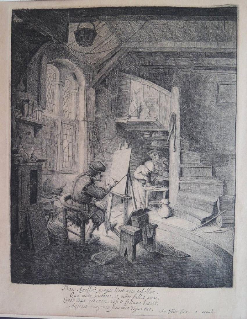 Adriaen van Ostade Etching (Dutch 1610-1685) - 2