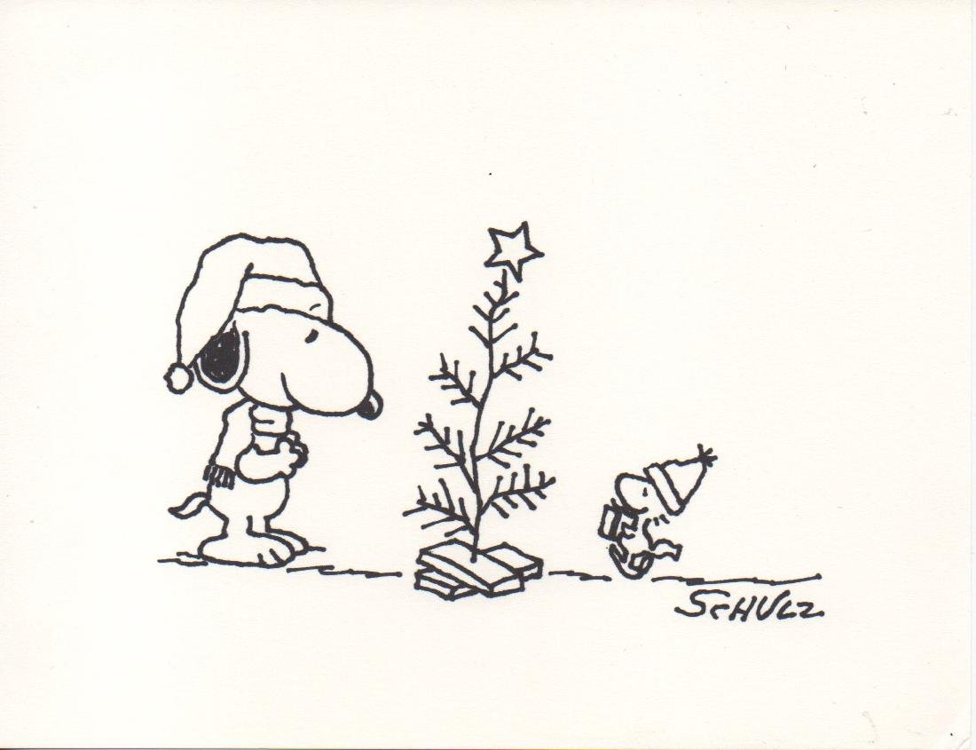 Charles Schulz Drawing Snoopy - Signed