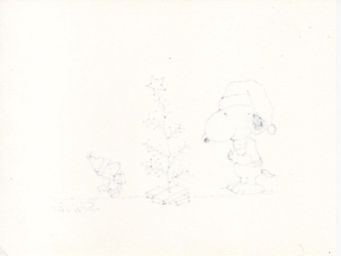 Charles Schulz Drawing Snoopy - Signed - 2