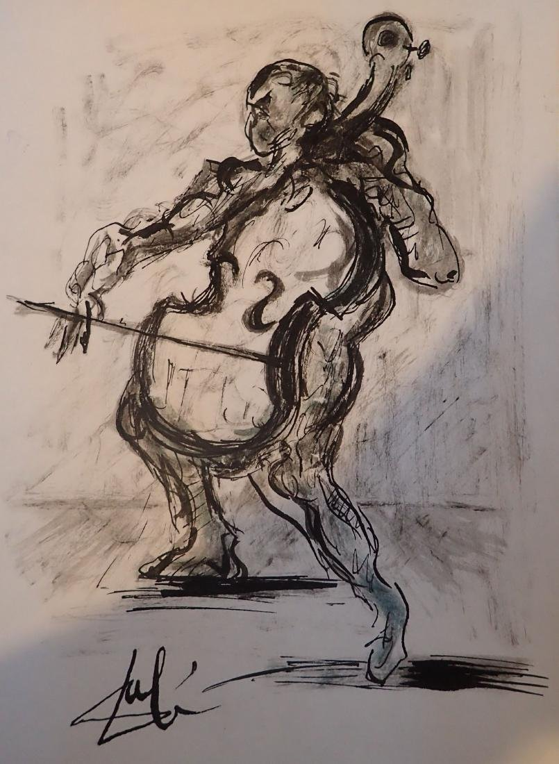 Man playing the Chello by Salvador Dali