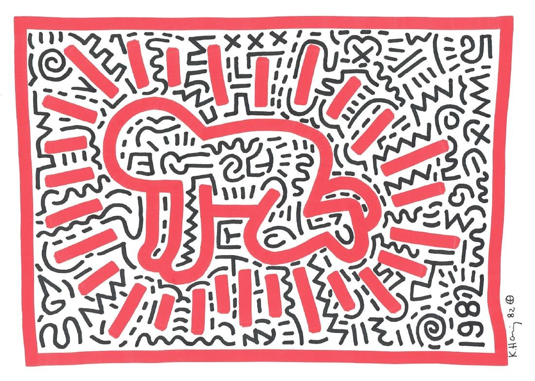 Radiant Baby by Keith Haring - Signed