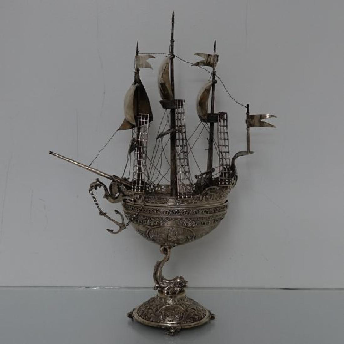 Continental German Nef Ship Statue
