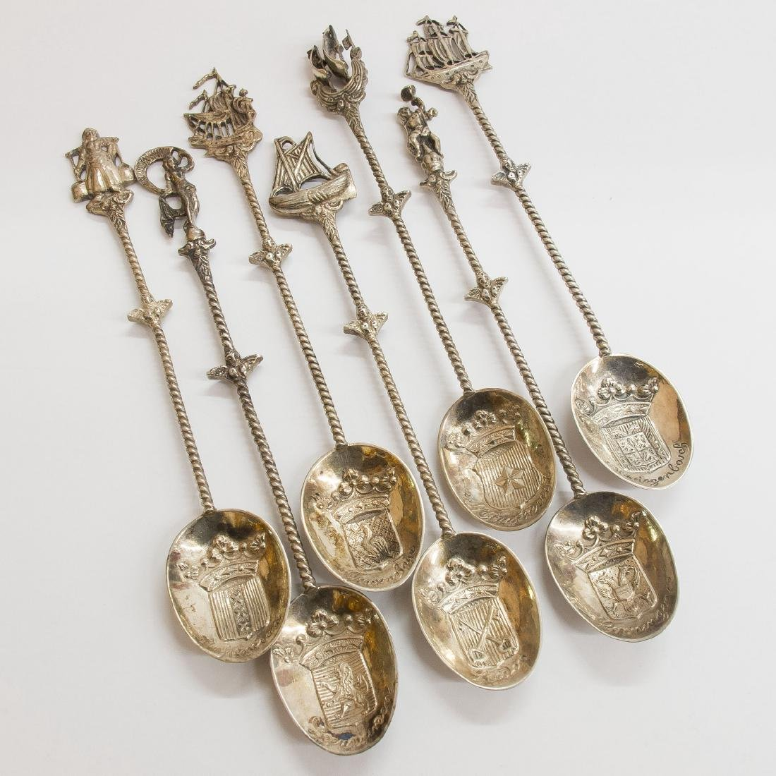 Set of Seven Silver Spoons