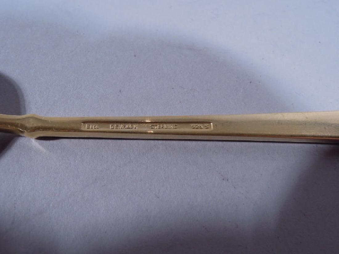 12 Danish Modern Sterling Silver & Enameled Spoons - 7