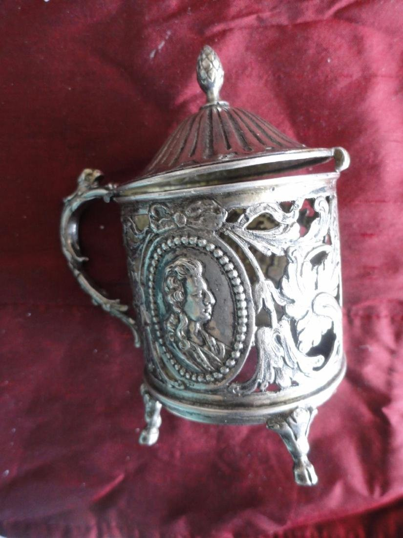 Antique French Silver Mustard Bowl