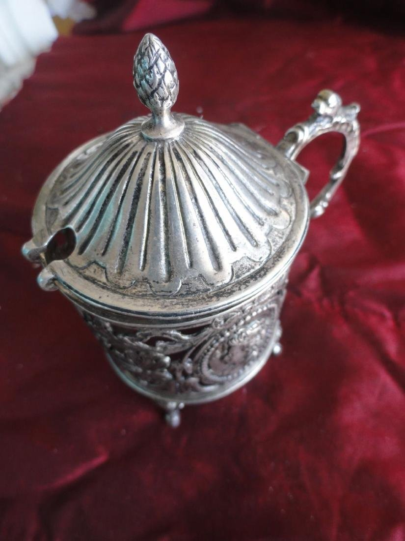 Antique French Silver Mustard Bowl - 5