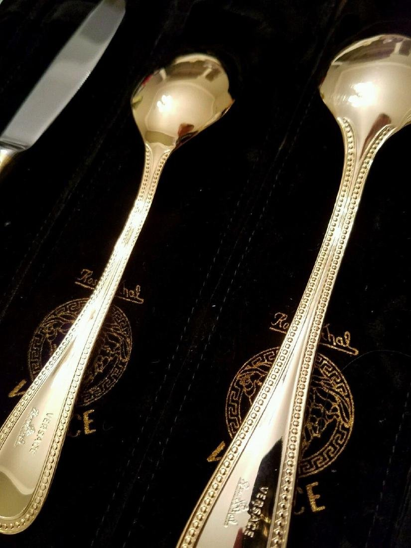 Set of 36 Rosenthal Meets Versace Medusa Gold Flatware - 6