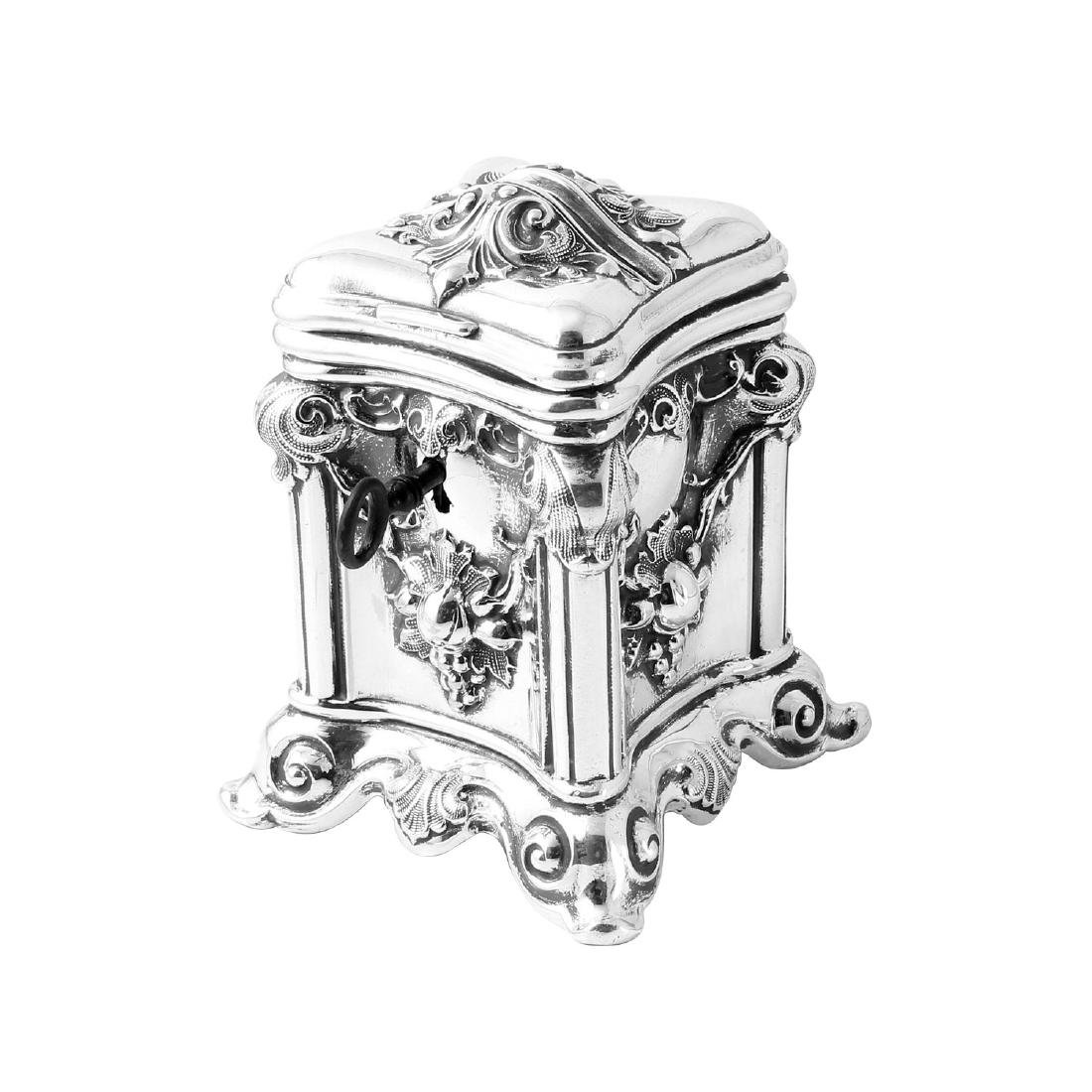 Antique Tzedakah Box Judaica, Sterling Hollowware